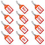 Shopping and sale tags Royalty Free Stock Image