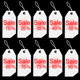 Shopping sale white tags labels set Royalty Free Stock Image