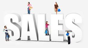 Shopping sales Stock Photography