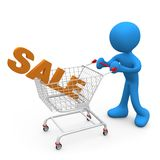 Shopping on Sales Royalty Free Stock Photography