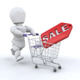 Shopping in the sales Royalty Free Stock Photos