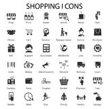 Shopping and sales icons. Great icons set for shopping and sales. From choosing best goods to lending and customer care royalty free illustration