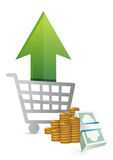 Shopping sales up. concept Stock Images