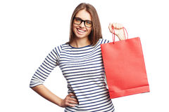 Shopping satisfaction Royalty Free Stock Image