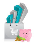 Shopping with savings Stock Photo