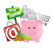 Shopping with savings Royalty Free Stock Images