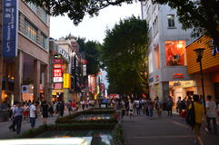 Shopping Scene in China Royalty Free Stock Image