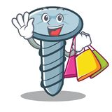 Shopping screw character cartoon style. Vector illustration Stock Photography
