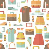 Shopping seamless pattern Royalty Free Stock Photos