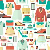 Shopping seamless pattern Royalty Free Stock Images