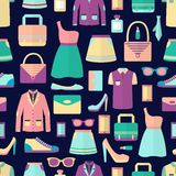 Shopping seamless pattern Stock Images
