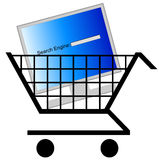 Shopping for search engine Royalty Free Stock Photos