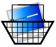 Shopping for search engine Stock Images