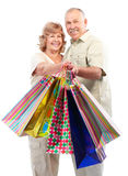 Shopping seniors Stock Image