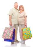 Shopping seniors Stock Photos