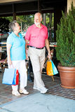 Shopping Seniors - Strolling Royalty Free Stock Photos