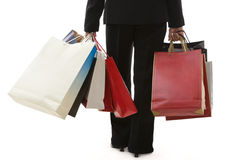 Shopping series - carrying Stock Photography