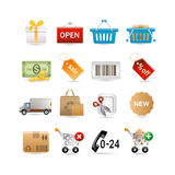 Shopping set Royalty Free Stock Images