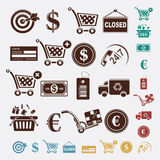 Shopping set Royalty Free Stock Photos