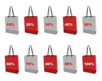 Shopping set icon Stock Photography