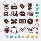 Shopping set of icons Stock Image