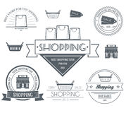 Shopping set label template of emblem element for Stock Image