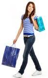 Shopping sexy girl Royalty Free Stock Photos