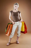 Shopping sexy woman Royalty Free Stock Image