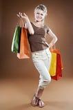Shopping sexy woman Royalty Free Stock Photos
