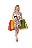 Shopping sexy woman Stock Photo