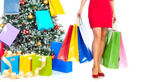 Shopping sexy woman Stock Photography