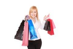 Shopping sexy woman Stock Image