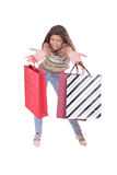 Shopping sexy woman Stock Photos