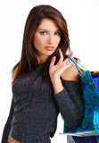 Shopping sexy young woman Royalty Free Stock Images
