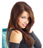 Shopping young woman Royalty Free Stock Photos