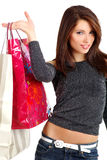 Shopping sexy young woman Royalty Free Stock Image