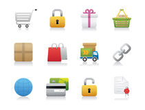 Shopping and Shipping Icons Royalty Free Stock Image