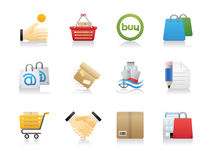 Shopping and Shipping Icons Royalty Free Stock Photography