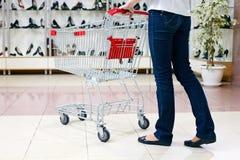 Shopping in shoe store Stock Photos