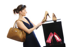 Shopping for shoes Stock Image