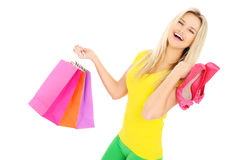 Shopping for shoes Royalty Free Stock Photo