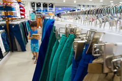 Shopping in the shop LC Waikiki. Royalty Free Stock Image