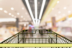 Shopping in the shopping mall. Motion blur in background Royalty Free Stock Photography