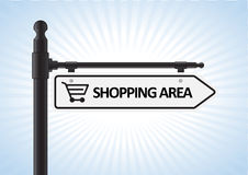Shopping Sign Royalty Free Stock Image