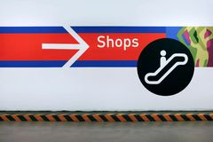 Shopping sign Royalty Free Stock Images