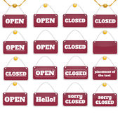 Shopping sign board Stock Images