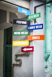 Shopping signs in Singapore Stock Photos