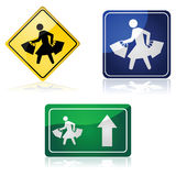 Shopping signs Stock Image