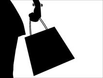 Shopping silhouette Royalty Free Stock Photos