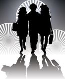 Shopping silhouette Royalty Free Stock Images
